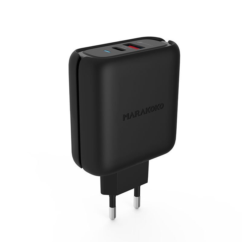 Marakoko MA27 USB-C PD3.0 and QC3.0 Fast Wall Charger 42W Output EU Plug