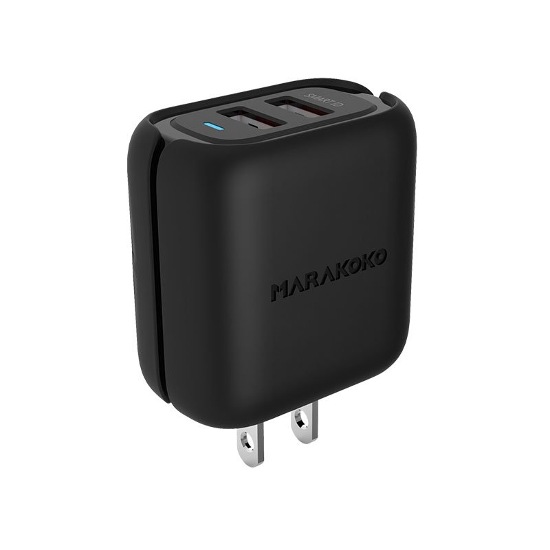 Marakoko MA31 2-Port USB Smart Wall Charger 4.8A Output U.S Plug