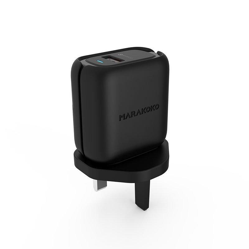 Marakoko MA38 QC3.0 Fast Wall Charger 24W Output U.K Plug